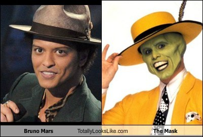 the mask,totally looks like,bruno mars