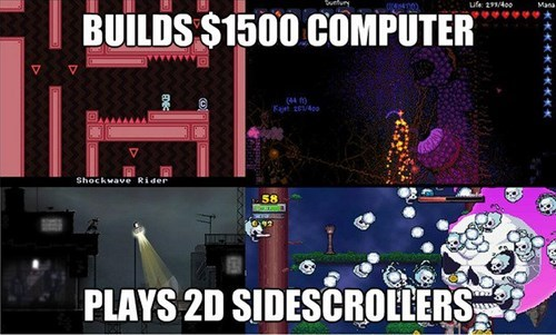 pc gamers,side scrollers,starbound,risk of rain