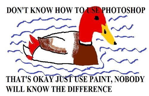 advice animals photoshop ms paint Memes malicious advice mallard - 8007836928