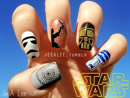 star wars,nail art,scifi