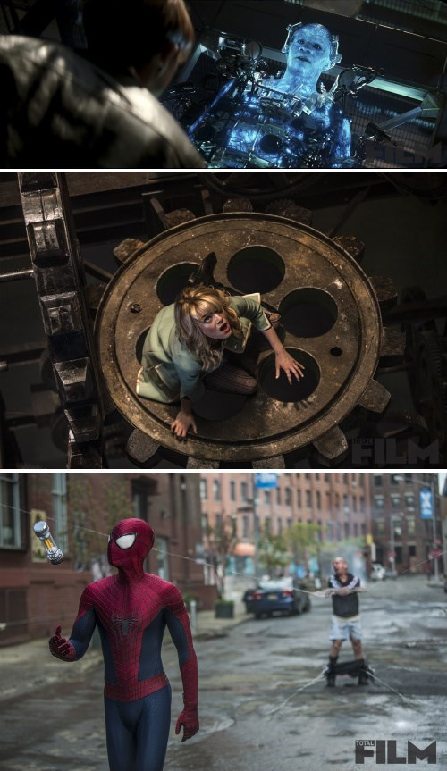 Spider-Man gwen stacy rhino amazing spider-man 2 promotional stills - 8007896064