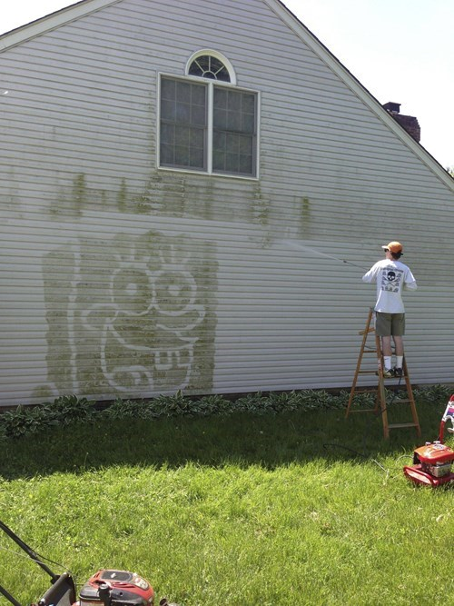 work SpongeBob SquarePants power wash