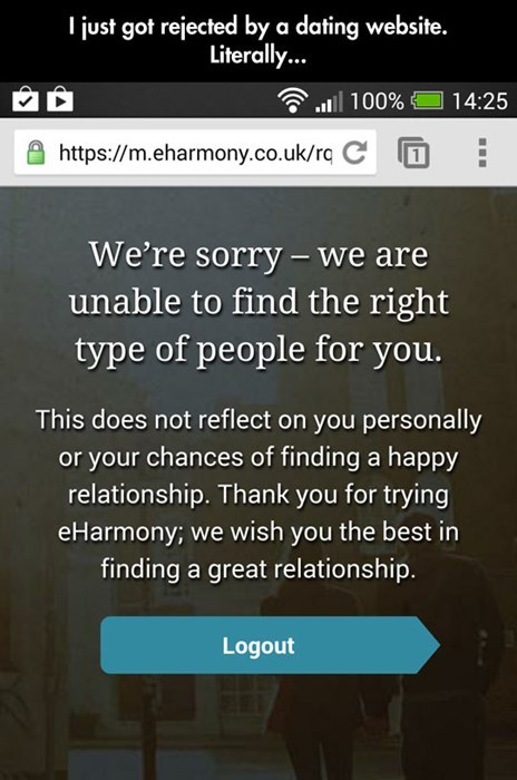 dating,forever alone,eharmony