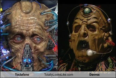 totally looks like,Toclafane,Davros