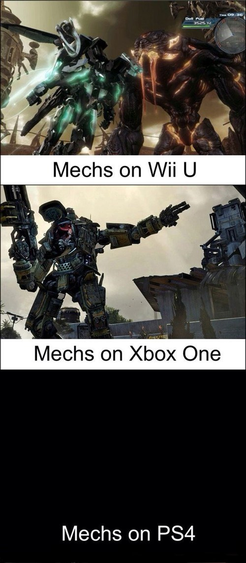 wii U,playtation 4,mechs,xbox one