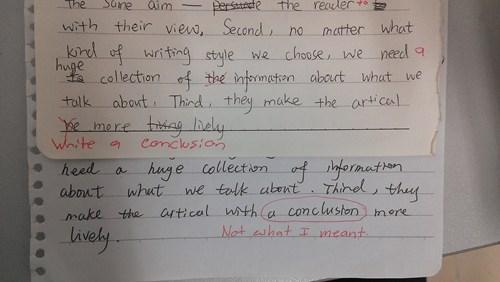 conclusion,criticism,paper,funny