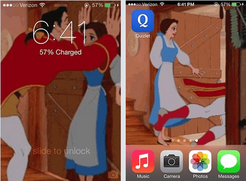 Beauty and the Beast slide to unlock AutocoWrecks g rated