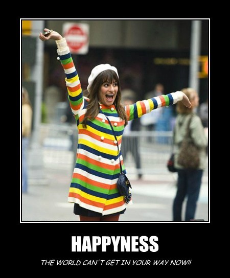 HAPPYNESS THE WORLD CAN'T GET IN YOUR WAY NOW!!