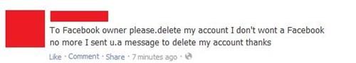 deleting facebook Mark Zuckerberg - 8009114112