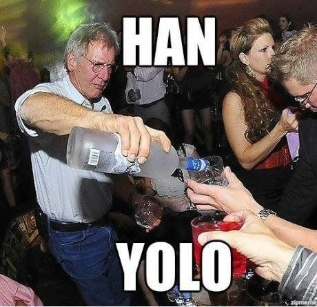 puns vodka Han Solo funny Harrison Ford - 8009116672
