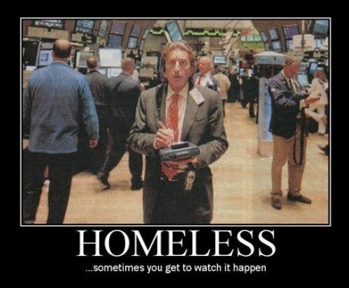 life shambles homeless wallstreet funny - 8009153280