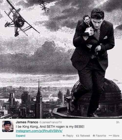 Seth Rogen king kong James Franco celebrity twitter