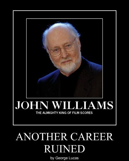 george lucas star wars john williams funny - 8009259776