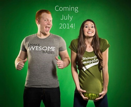 Babies,pregnancy,announcements,expecting,parenting,watermelons