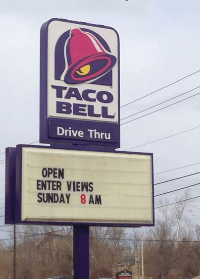 taco bell interviews enter views spelling - 8009359616