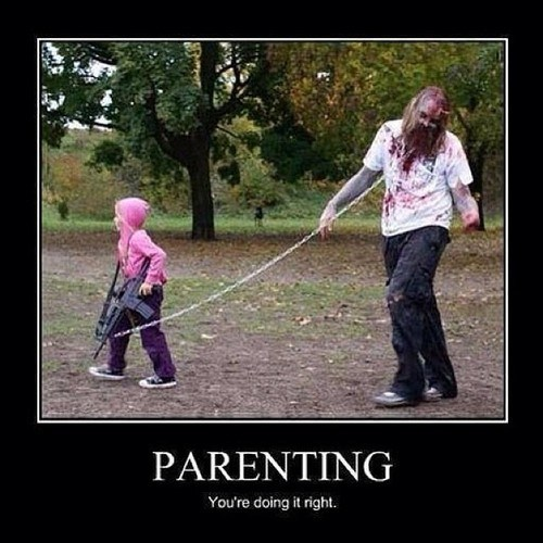 michonne,kids,parenting,zombie,The Walking Dead