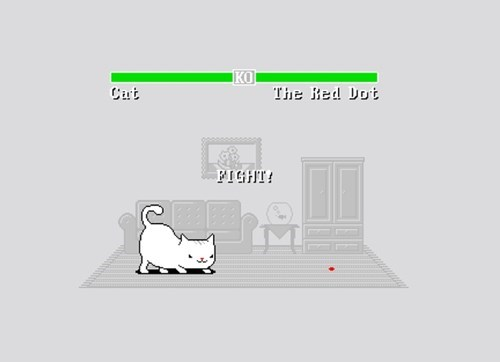 red dot,fight,video games,Cats