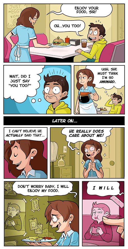 Awkward food you too web comics - 8009474816