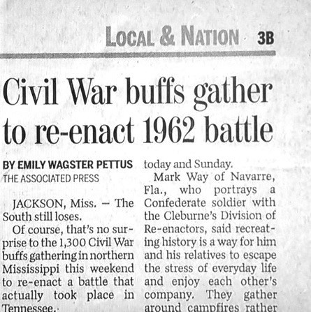 news typo Probably bad News civil war