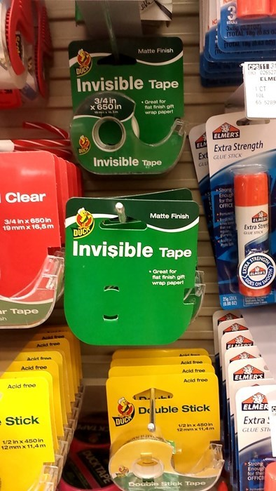 office supplies,literalism,invisible,tape