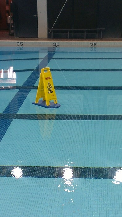 warning sign pool irony g rated win