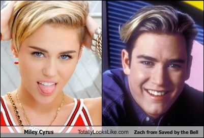 saved by the bell totally looks like miley cyrus zach