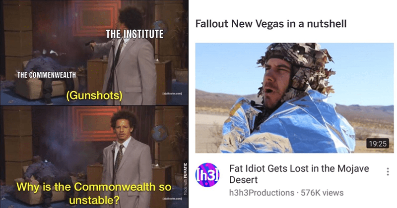 Funny memes about game fallout, video games, gamers.