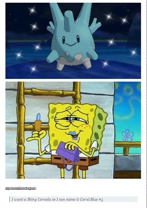 shinies,SpongeBob SquarePants,corsola