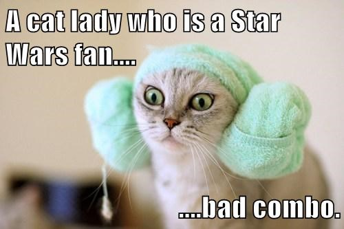 A cat lady who is a Star Wars fan....  ....bad combo.