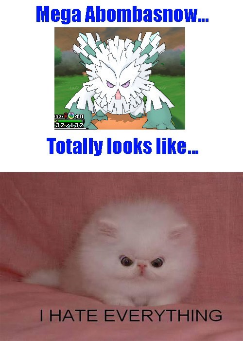 mega abomasnow,totally looks like,Cats,animals