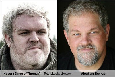 hodor,abraham benrubi,totally looks like