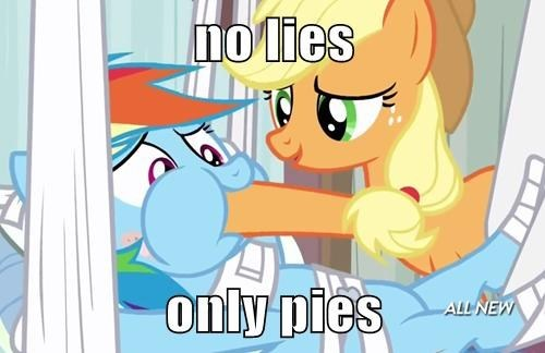 applejack,elements of harmony,lies,rainbow dash