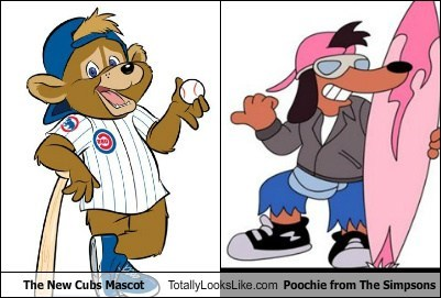poochie mascot totally looks like cubs simpsons