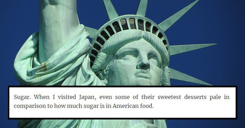 funny realizations about usa culture | Sugar visited Japan, even some their sweetest desserts pale comparison much sugar is American food.