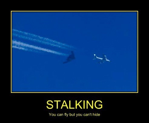 That's one serious stalker!