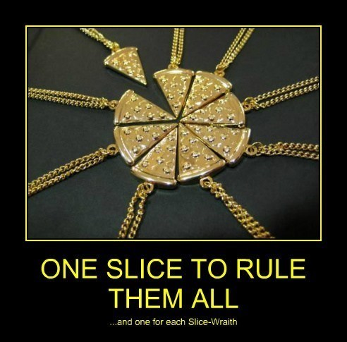 necklace pizza Lord of the Rings funny - 8012531968