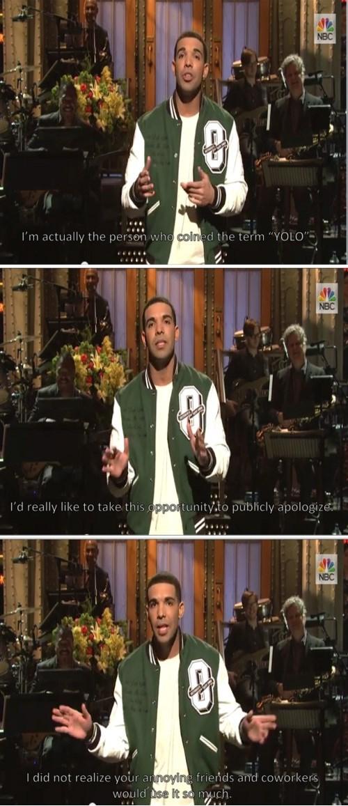 yolo Drake apology SNL Music g rated - 8012590080