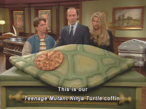 teenage mutant ninja turtles wtf TMNT married with children coffins - 8012609280