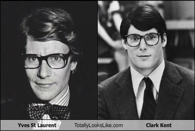 Clark Kent totally looks like yves st. laurent