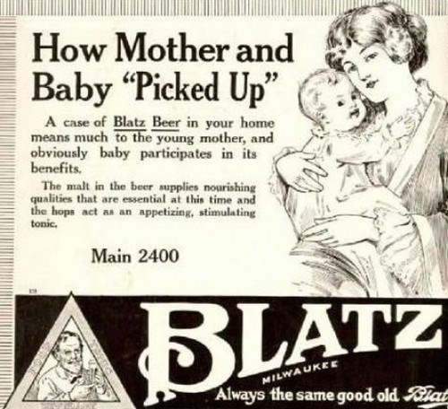 beer kids mother blatz funny after 12 - 8012654336