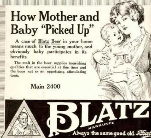 beer kids mother blatz funny after 12 - 8012654336