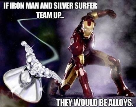 pun silver surfer elements iron man Chemistry