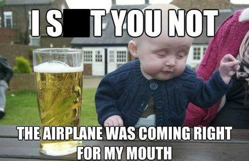 baby kids drunk funny airplane - 8012664576