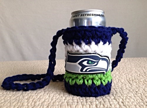 beer sports koozie seahawks football funny - 8012670720