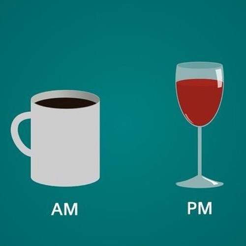 pm wine coffee funny am - 8012685312