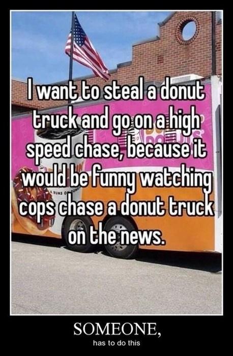 donut truck funny police - 8012693248