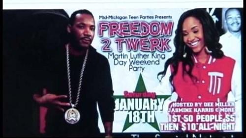 Martin Luther King twerking martin luther king day - 8012700416