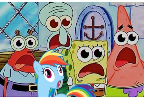 dat face rainbow dash SpongeBob SquarePants - 8013281792