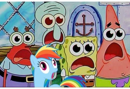 dat face rainbow dash SpongeBob SquarePants - 8013281792