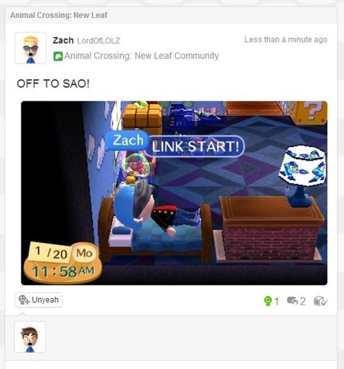 Miiverse,animal crossing